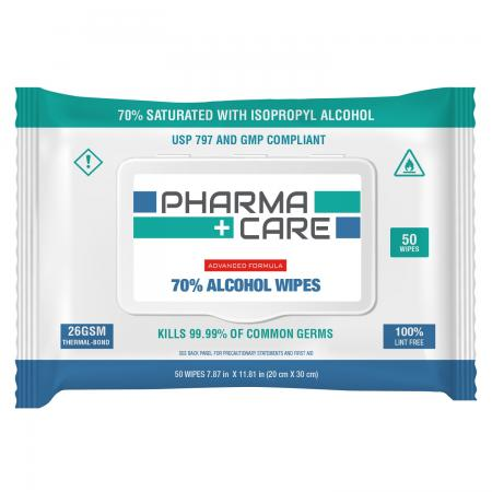 Alcohol Wipes, 50 Count